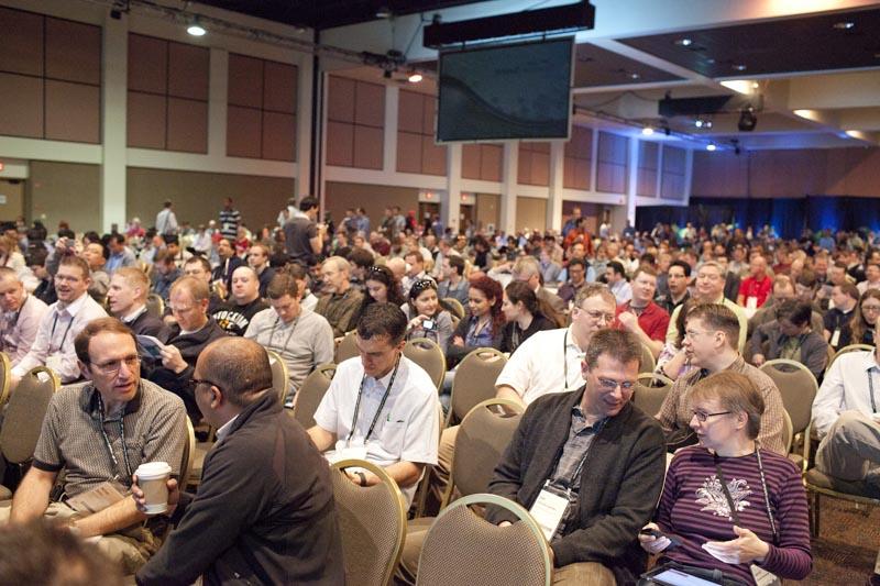 Plenary Session der Esri DevSummit in Palm Springs, CA