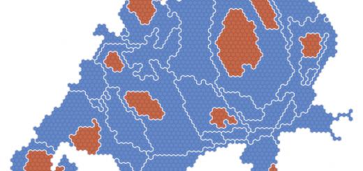 Bevölkerungskartogramm der Schweiz (www.ralphstraumann.ch)