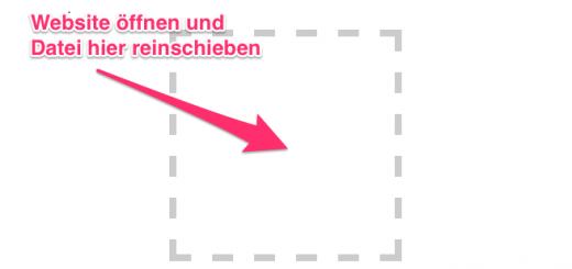 """Screenshot von der Webapp """"send2geoadmin"""""""