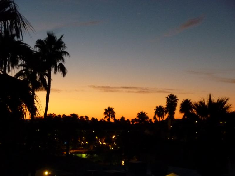 Palm Springs vor Sonnenaufgang